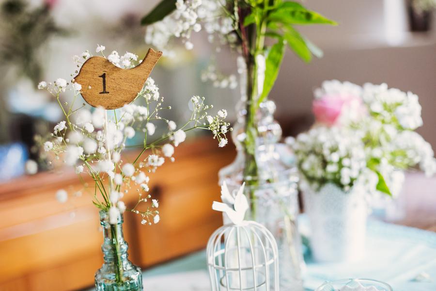 Dekoration auf er Hochzeit