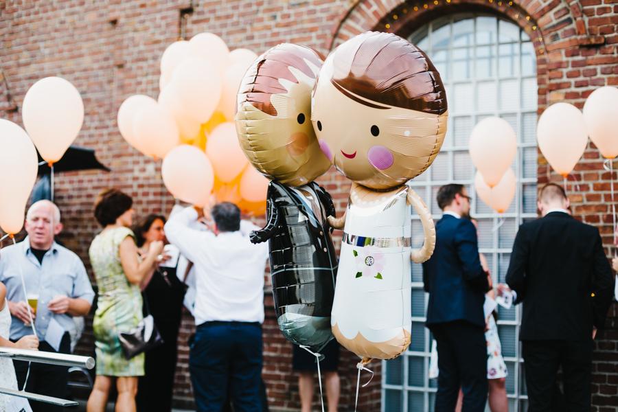 Brautpaar Luftballons