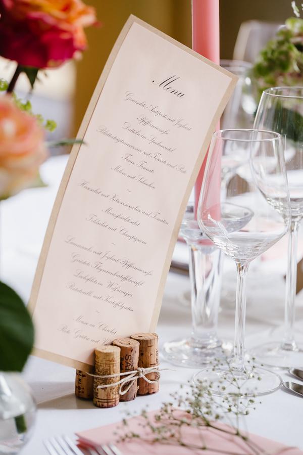 Hochzeit Menükarte