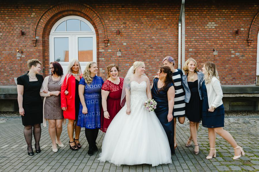 Brautjungfern Gruppenfoto