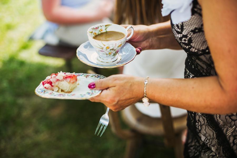 Kuchen auf der Hochzeitsfeier