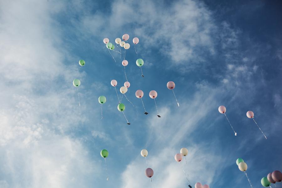 Luftballons auf der Hochzeit