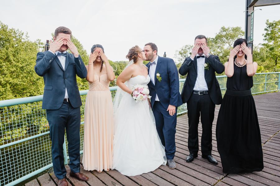 Fotoreportage Gruppenfoto Hochzeit