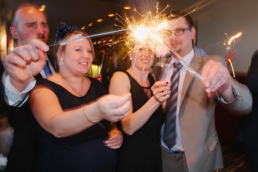 Fotoreportage Hochzeit Wunderkerzen