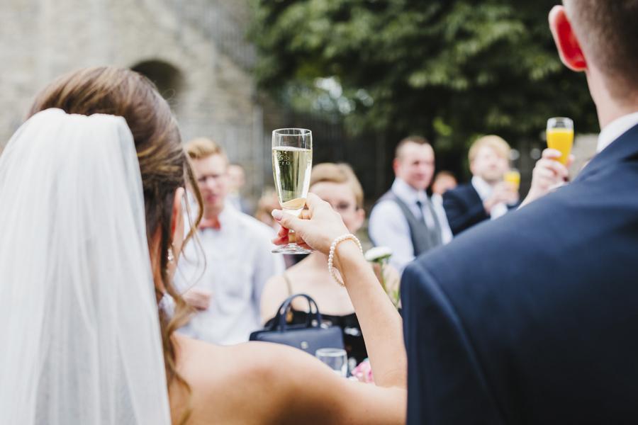 Sektempfang Brautpaar