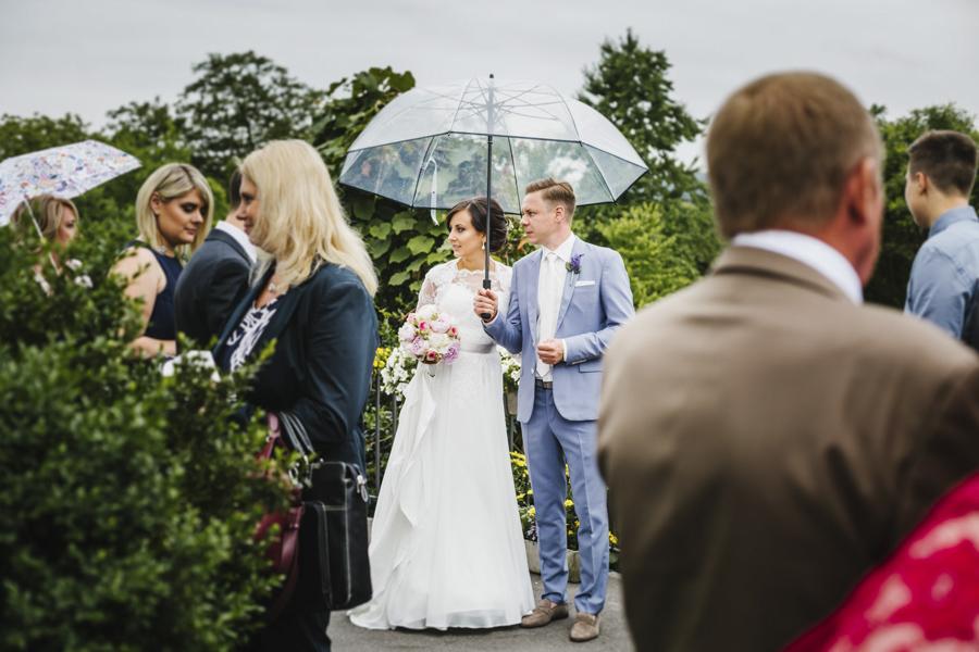 Brautpaar Regen