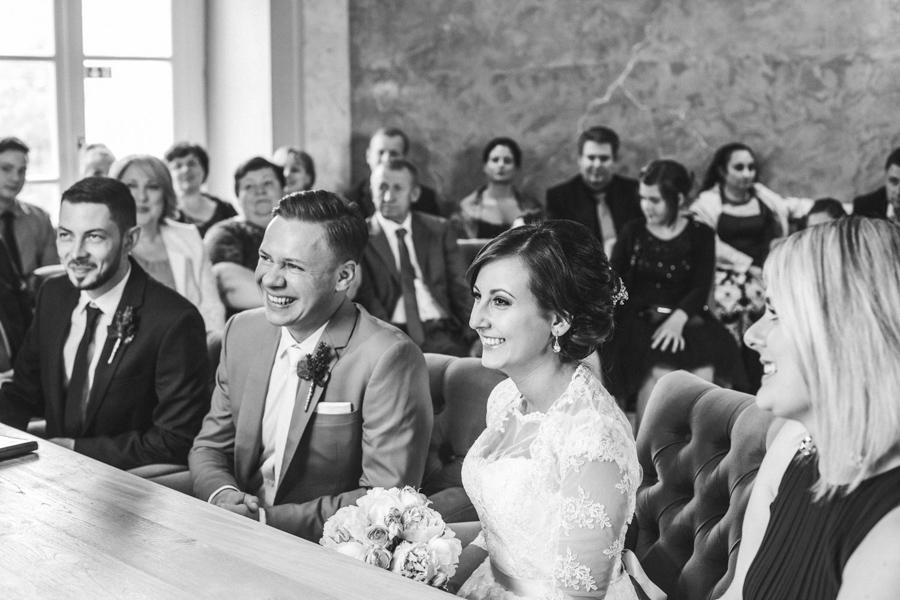 Lachen Brautpaar