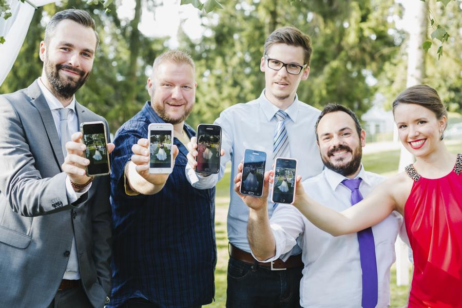 kreatives Hochzeitsfoto