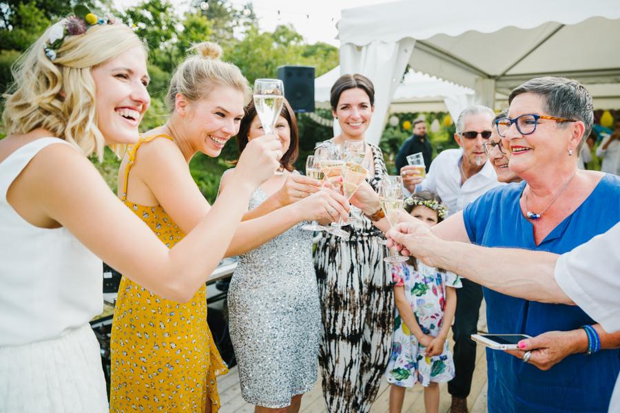 Braut Sektempfang