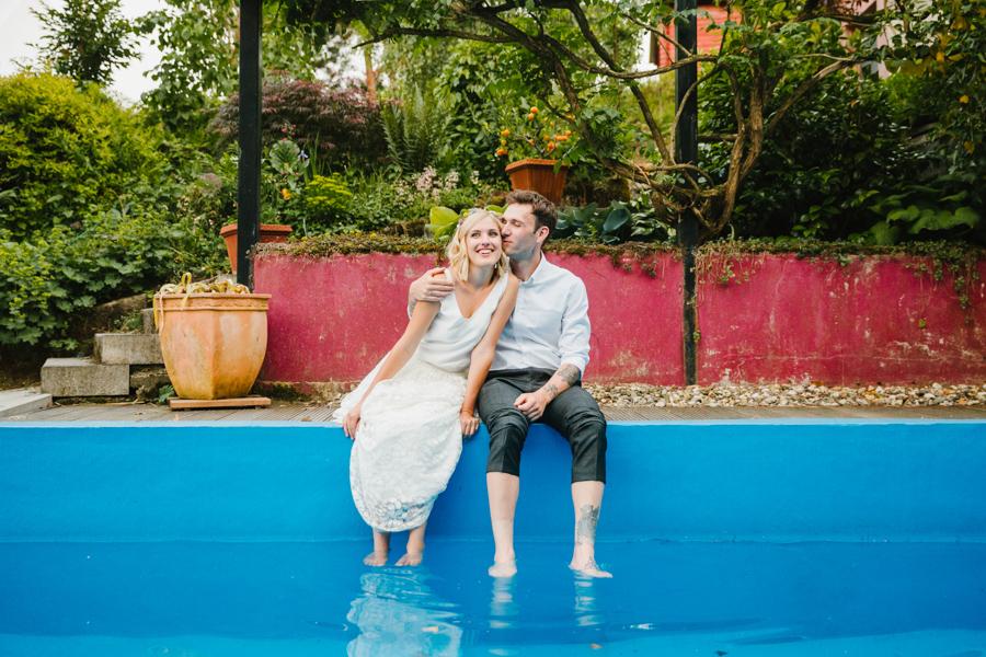 Brautpaar Pool