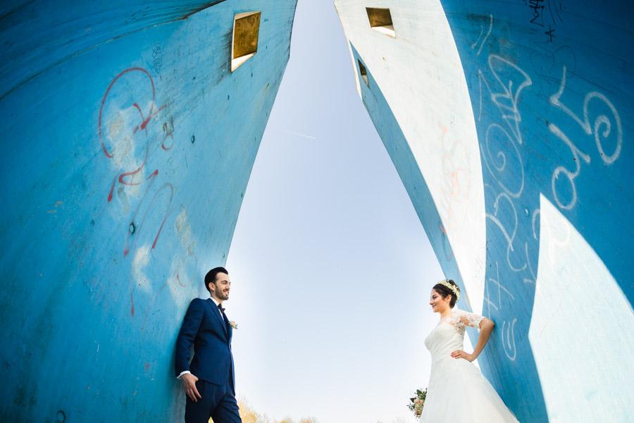 Weitwinkel Brautpaar