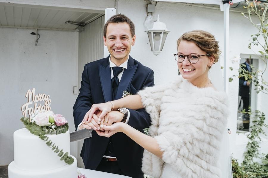 Anschnitt Hochzeitstorte